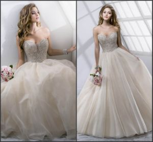 Sweetheart Wedding Ball Gown Beads Rhinestones Tulle Bridal Wedding Dress H14106 pictures & photos
