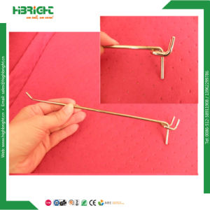 MDF Mounted Metal Wire Slatwall Hook pictures & photos