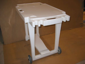 White Acrylic Table Used on Fixed Fish Tank