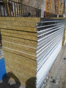 Rockwool Sandwich Panels, Perforated Acoustic Rockwool Sandwich Panels, Construction Materials pictures & photos