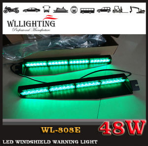 48W LED Warning Dash Visor Light with Suction Cup pictures & photos