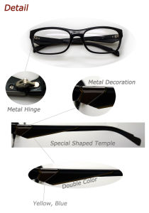 Latest Trendy Design Men′s Reading Glasses with Metal Decoration (MRP21389) pictures & photos