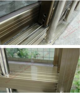 Aluminium Sliding Window with Built-in Burgular-Proof Bars (BHA-SW03) pictures & photos