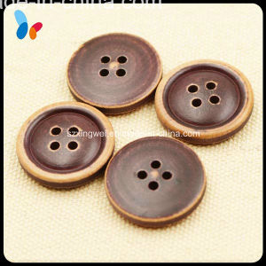 Imitation Leather 4-Hole Wood Coat Button pictures & photos