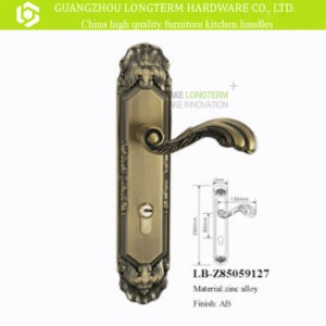 New Design Zinc Alloy Security Door Handle Locks pictures & photos