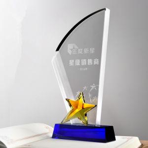 Wholesale Cheap Crystal Glass Star Trophy Parts for Souvenir pictures & photos