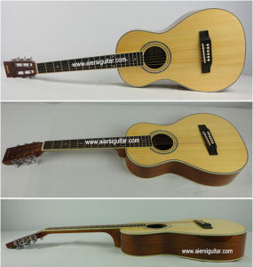 Aiersi High Quality Solid Top Parlor Acoustic Parlour Guitar pictures & photos