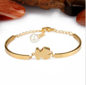Fashion Stainless Steel Jewelry Bear Bracelet Gold Bracelet (hdx1142) pictures & photos