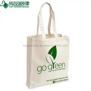 Wholesale Plain White Shopping Carrier Cotton Bags (TP-SP069) pictures & photos