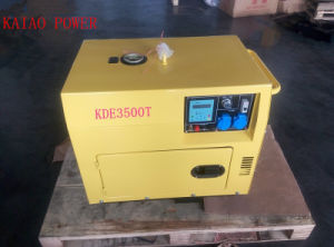 A C Single Phase 50Hz/3kw Key Start Silent Diesel Generator with Digital Panel Board for Home and Shop Use pictures & photos