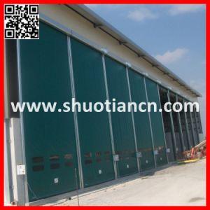 High Speed Industrial Plastic Roll up Door, Plastic Rolling Door (ST-001) pictures & photos