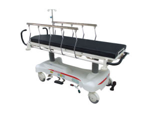 Luxurious Hydraulic Rise-and-Fall Patient Stretcher Cart pictures & photos