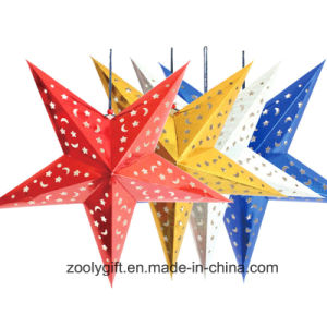 Laser Card Paper Hanging Star Party Home Decoration / Hang Paper Christmas Holiday Star Lanterns pictures & photos