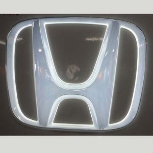 Acrylic Metal Luster Electroplate LED Lighten Japanese Car Emblem pictures & photos