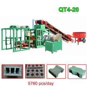 Qt4-20 Automatic Hydraulic Concrete Hollow Block Making Machine pictures & photos