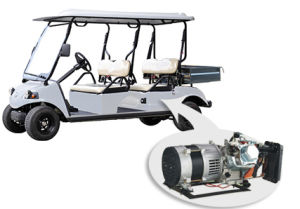 4 Seat EEC Electric Truck Golf Cart with Hybrid Power pictures & photos