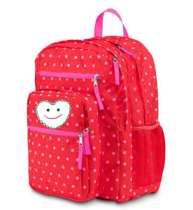 Pink Dots Student Backpack Case Shcool Book Storage Bag pictures & photos