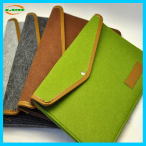 Classical Wool Felt Meterail Laptop Bag pictures & photos
