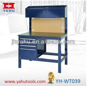 4-Drawer Electronic Workbench Worktable with Two Top Cabinets (YH-WT039) pictures & photos