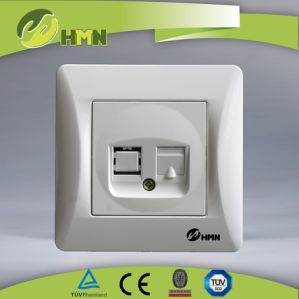 Hermano High Quality Switch Socket 1 Gang Tel Socket Data pictures & photos