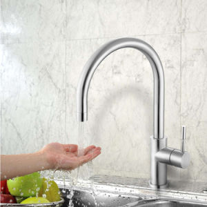 Stainless Steel Single Handle Kitchen Sink Faucet with CSA Certificate pictures & photos