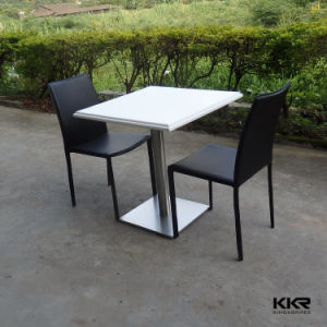 Kingkonree White Gloss Stone Marble Solid Surface Dining Table pictures & photos