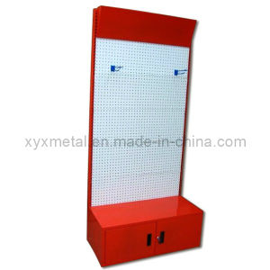 Metal Powder Coated Exhibition Pegboard Display Shelf Rack (PR-01) pictures & photos