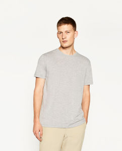 Cotton Short Sleeve Round Collar T-Shirt pictures & photos