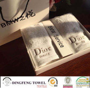 100% Cotton Terry Gift Towel Set with Logo Embroidery pictures & photos