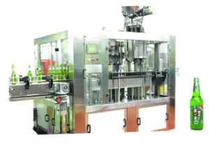 Automatic 3-in-1 Glass Water Bottling Beer Filling Machine