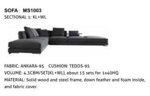 Modern Living Room Corner Sofa for Home (HW-8103S) pictures & photos