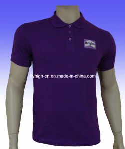 Purple Fashion Cotton Custom Polo Shirt pictures & photos