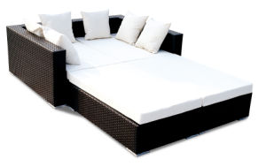 PE Wicker Garden Sofa Bed (BZ-SF015)
