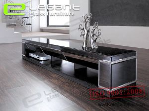 LCD Glass TV Stand -T326 pictures & photos