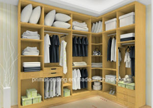 Modern Wood Panel Closet Wardrobe pictures & photos