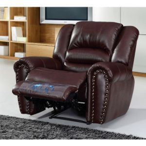 Modern Sectional Leather Recliner Sofa 6013C pictures & photos