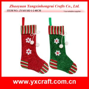 Christmas Decoration (ZY16Y102-1-2 40CM) Christmas Outdoor Big Sock Christmas Supplies pictures & photos