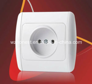 Euro Standard Switch Socket 220V One Gang One Two Way Two Gang Two Way Big Button Viko Style Electric Light Switch Socket pictures & photos