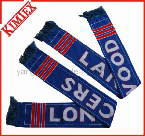 Double Layer Acrylic Jacquard Team Football Scarf pictures & photos