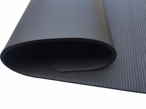 High Quality Black NBR Yoga Mat pictures & photos