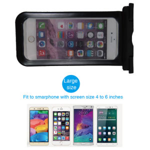 PVC Waterproof Pouch with Earphone Jack and Inner Cable pictures & photos
