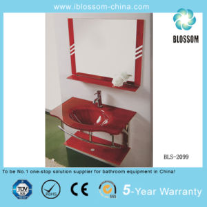Tempered Glass Basin/Glass Washing Basin with Mirror (BLS-2099) pictures & photos