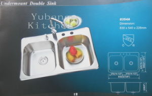 304 Stainless Steel Double Sink Kitchen Sink #8354A pictures & photos