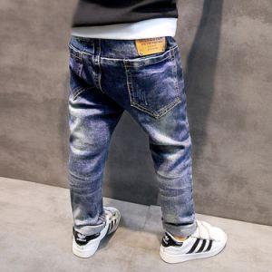 Children′s Denim Trousers Kids Dark Blue Designed Jeans pictures & photos