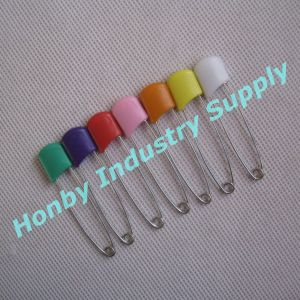 55mm Double Lock Plastic Head Stainless Steel Baby Diaper Pin