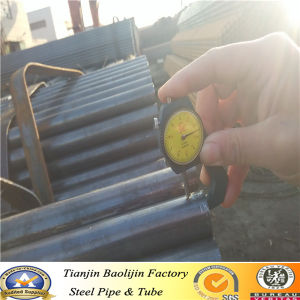 Low Carbon Black ERW Steel Pipes and Tubes pictures & photos