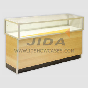 Aluminium Frame Jewelry Glass Showcase