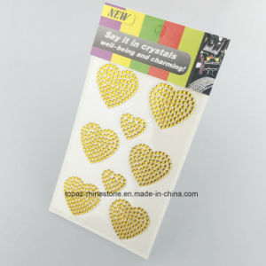 Heart Shape Crystal Stickers Elements Crystal Decals Rhinestone Stickers for Body (TS-550) pictures & photos