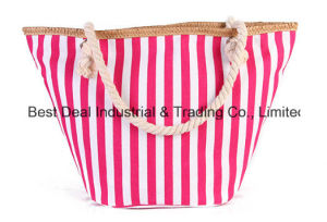 Strip Round Bottom with Buckle Canvas Bag pictures & photos