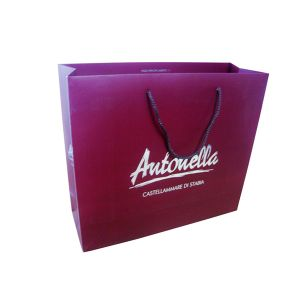 Hot Gold Stamping Shopping Bag with Handle pictures & photos
